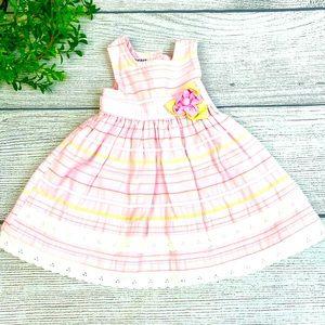 Blueberi Boulevard Pink Stripe Girls Dress 12m